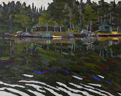 Conservationist Painting - Gilmour Island by Phil Chadwick