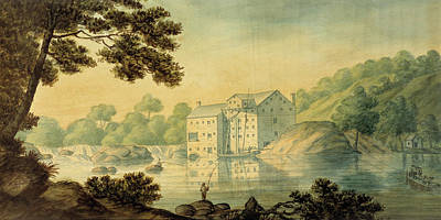 Trees Painting - Gilpin's Mill by Robert Gilmor