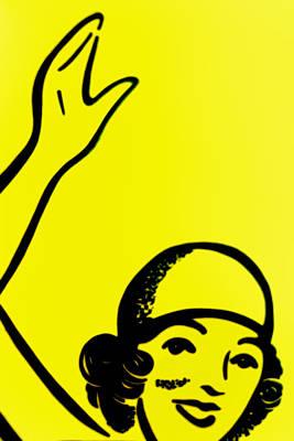 Gilr In Yellow Art Print by John Gusky