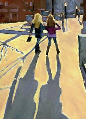 Painting - Girl Talk by Mary Byrom
