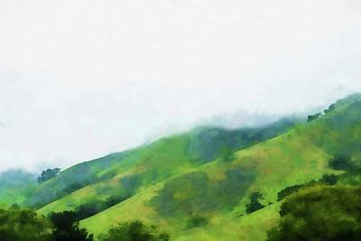 Mountain Valley Mixed Media - Gilroy Hills by Terry Davis