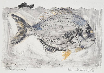 Painting - Gilt-head Bream,seafood by Martin Stankewitz