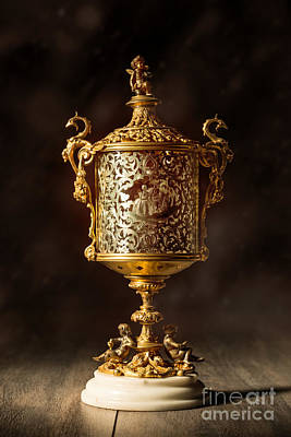 Old Glass Photograph - Gilt Lantern by Amanda Elwell