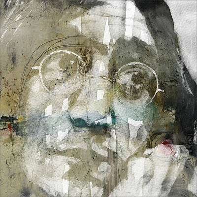 Portrait Mixed Media - Gimme Some Truth  by Paul Lovering