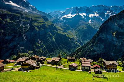 Gimmelwald In Swiss Alps - Switzerland Art Print