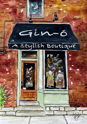 Franklin Tennessee Painting - Gin-ohhhhhhhhh by Tim Ross