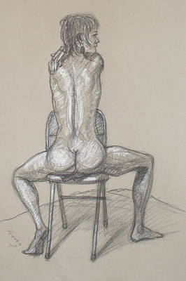 Drawing - Gina Back View by Donelli  DiMaria