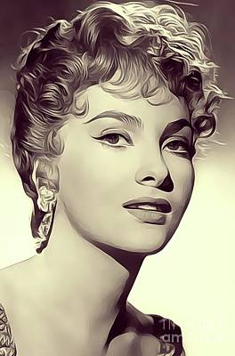 Musician Royalty-Free and Rights-Managed Images - Gina Lollobrigida, Vintage Actress/Dancer by John Springfield