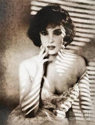 Gina Lollobrigida, Vintage Hollywood Actress Art Print by John Springfield