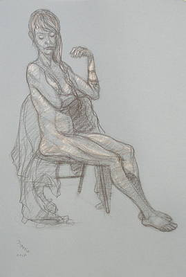 Drawing - Gina Seated 1 by Donelli  DiMaria