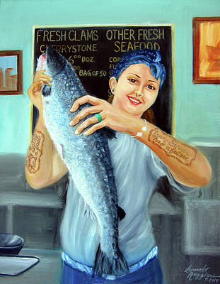 Painting - Gina's Fresh Catch by Leonardo Ruggieri