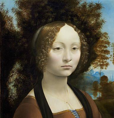 Painting - Ginevra De' Benci by Leonardo da Vinci