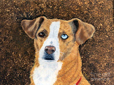 Painting - Ginger - Mixed Breed by Terri Mills