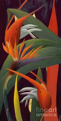 Painting - Ginger And Bird Of Paradise by Mary Erbert