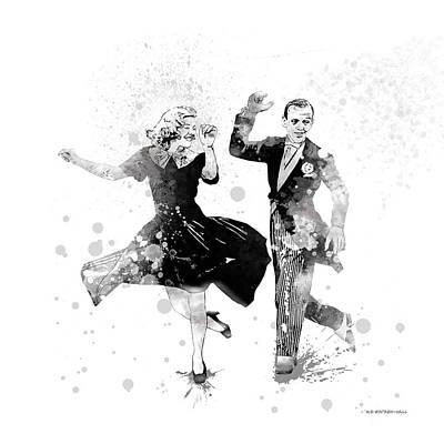 Digital Art - Ginger And Fred by Marlene Watson