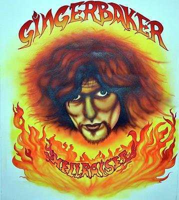 Painting - Ginger Baker Hellraiser by Liz Baker