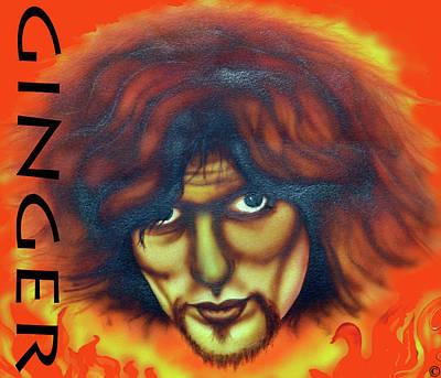 Painting - Ginger Baker by Liz Baker