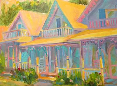 Cape Cod Painting - Ginger Bread House by Linda Emerson