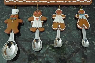 Father Photograph - Ginger Bread Spoons by LeeAnn McLaneGoetz McLaneGoetzStudioLLCcom