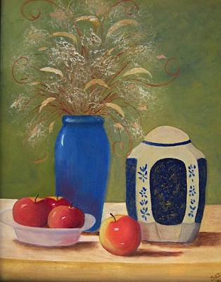 Painting - Ginger Jar And Apples......sold by Susan Dehlinger