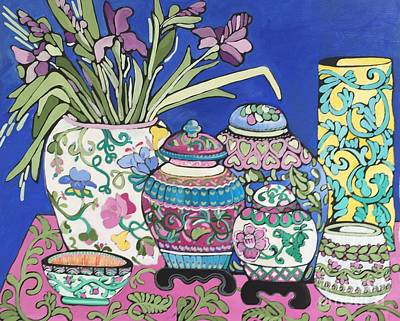 Painting - Ginger Jars by Rosemary Aubut
