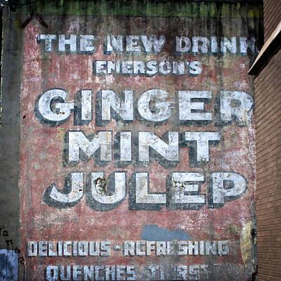 Julep Photograph - Ginger Mint Julep by Jarrod Erbe