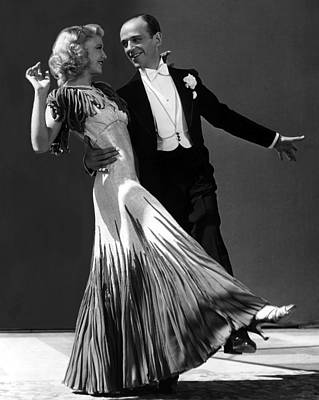Ginger Rogers And Fred Astaire  Art Print by American School