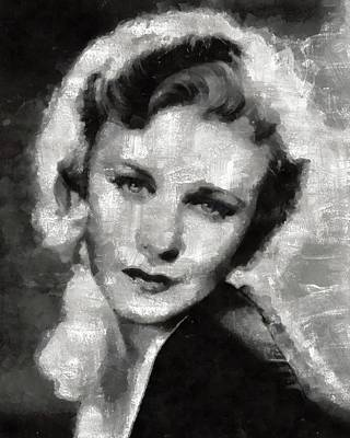 Television Painting - Ginger Rogers By Mary Bassett by Mary Bassett