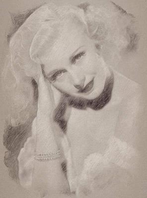 Celebrities Paintings - Ginger Rogers by Esoterica Art Agency