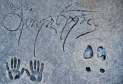 Ginger Rogers Grauman's Chinese Theatre Art Print