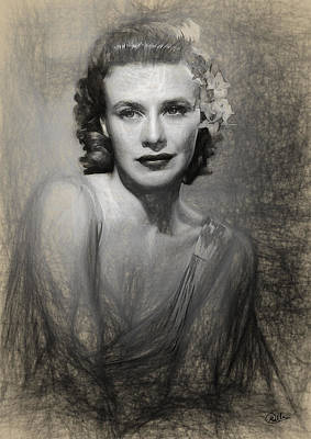 Ginger Rogers Draw Art Print by Quim Abella