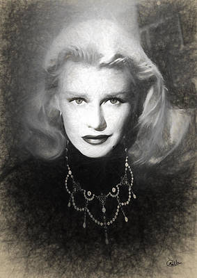 Ginger Rogers Sketch Art Print by Quim Abella