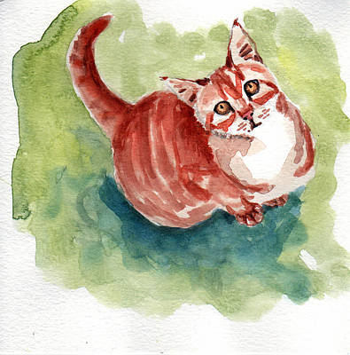 Painting - Ginger Tabby 8 by Mimi Boothby