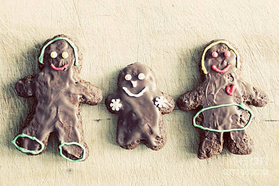 Baked Photograph - Gingerbread Family by Michal Bednarek