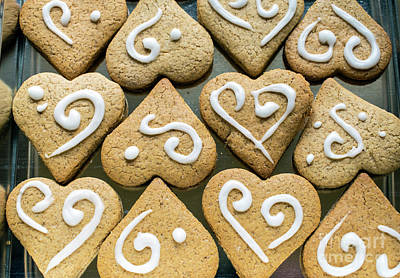 Photograph - Gingerbread Hearts 2 by Nina Ficur Feenan