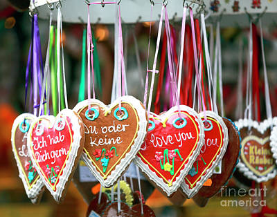 Photograph - Gingerbread Hearts by John Rizzuto