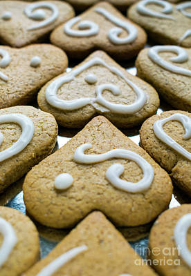 Photograph - Gingerbread Hearts by Nina Ficur Feenan