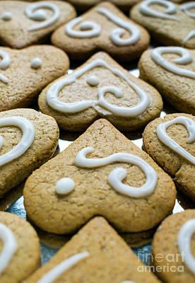 Photograph - Gingerbread Hearts by Nina Ficur Feenan