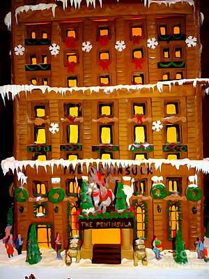 Photograph - Gingerbread Hotel by Ed Weidman