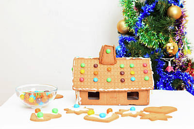 Gingerbread Photograph - Gingerbread House And Cookings, Christmas by NadyaEugene Photography
