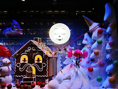 Photograph - Gingerbread House And The Moon by Rosita Larsson