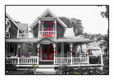 Photograph - Gingerbread House Bw by Carlos Diaz