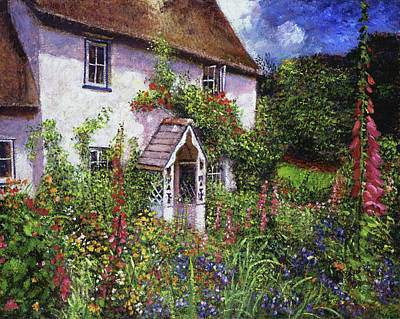 Painting - Gingerbread House by David Lloyd Glover