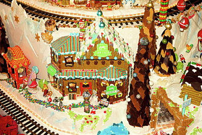 Photograph - Gingerbread House Study 2 by Robert Meyers-Lussier