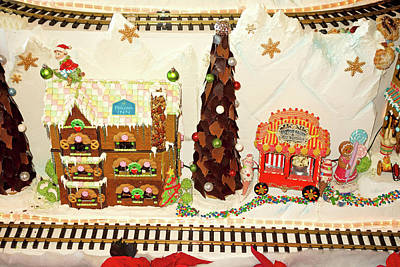 Photograph - Gingerbread House Study 3 by Robert Meyers-Lussier