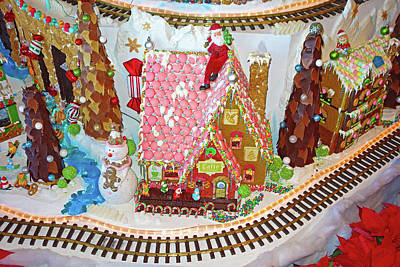 Photograph - Gingerbread House Study 4 by Robert Meyers-Lussier