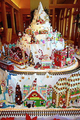 Photograph - Gingerbread House Study 8 by Robert Meyers-Lussier