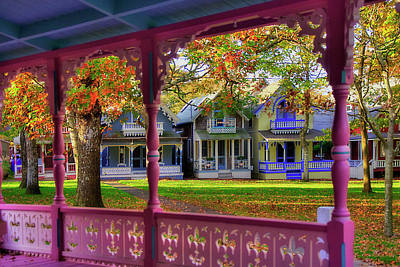Photograph - Gingerbread Houses - Oak Bluffs, Martha's Vineyard by Joann Vitali