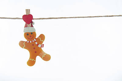 Photograph - Gingerbread Man On A Line by Helen Northcott