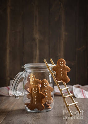 Gingerbread Men Print by Amanda Elwell